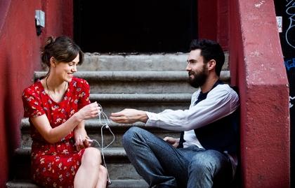 Keira Knightley and Adam Levine star in Begin Again.
