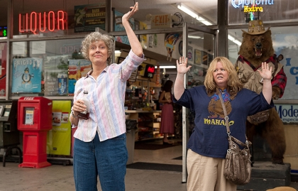 Susan Sarandon and Melissa McCarthy star in Tammy.