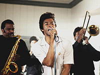 Chadwick Boseman stars as James Brown in Get On Up.