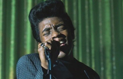 Chadwick Boseman as James Brown in Get On Up.