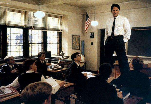 Sociedad de los poetas muertos, película protagonizada por Robin Williams, 1989. Robin Williams: 10 papeles inolvidables