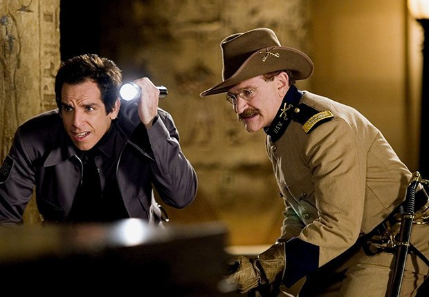 Robin Williams and Ben Stiller star in Night at the Museum, 2006. Robin Williams: 10 Unforgettable Roles.