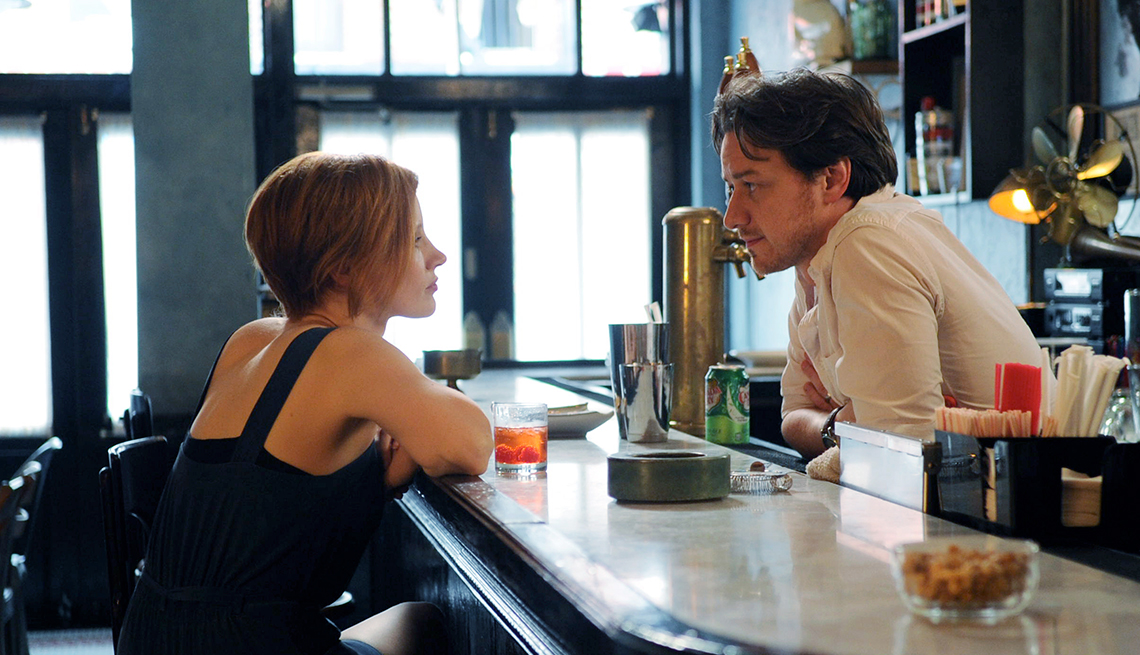 Jessica Chastain, James McAvoy, The Disappearance of Eleanor Rigby, movie review