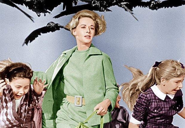 The Birds, una película clásica de Alfred Hitchcock