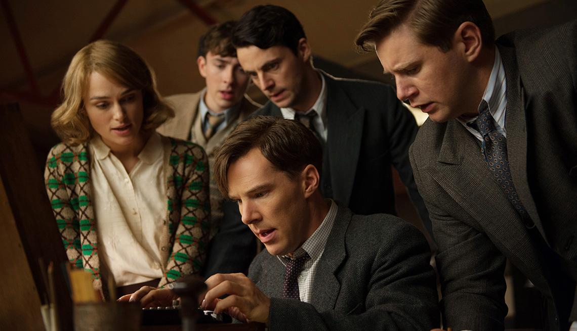 The Imitation Game, Movie, Kiera Knightley, Matthew Goode, Benedict Cumberbatch, Actors, World War II, Alan Turing, Enigma Machine, 2014 Holiday Movie Preview