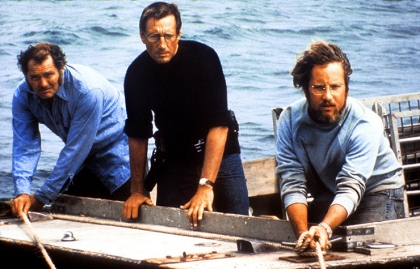 JAWS, Robert Shaw, Roy Scheider, Richard Dreyfuss, 1975