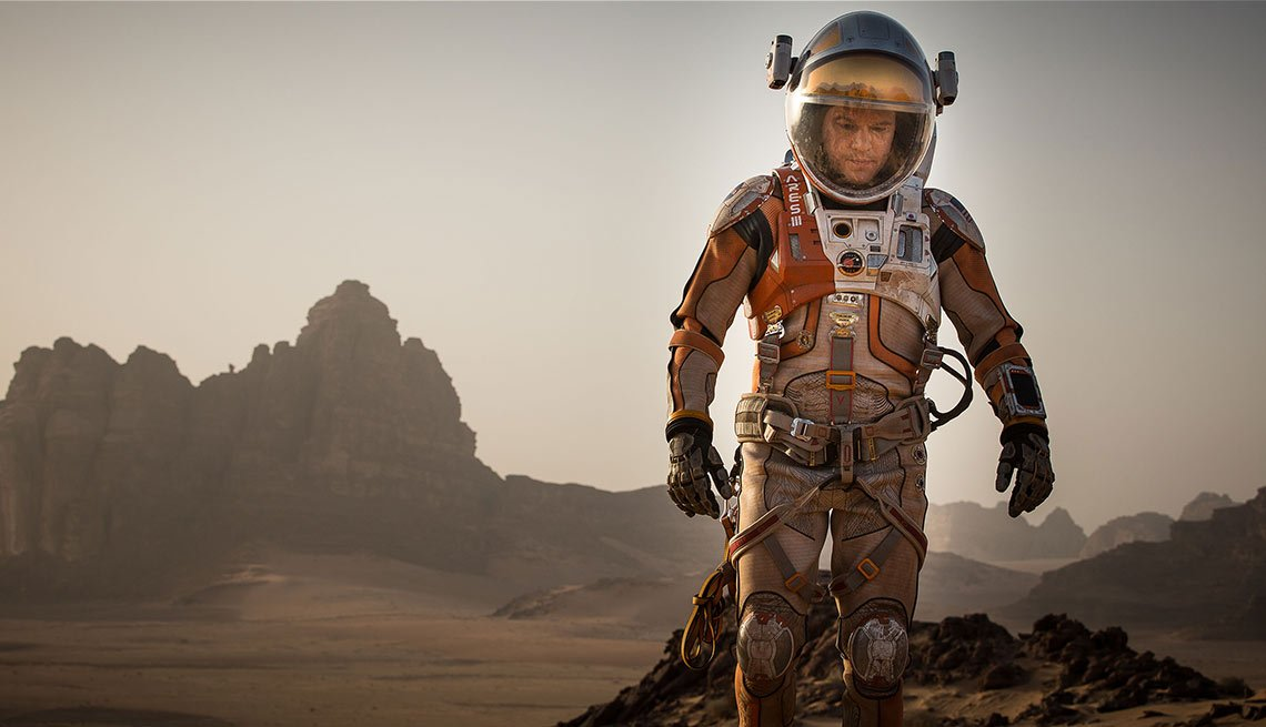 Matt Damon en una escena de la película The Martian.