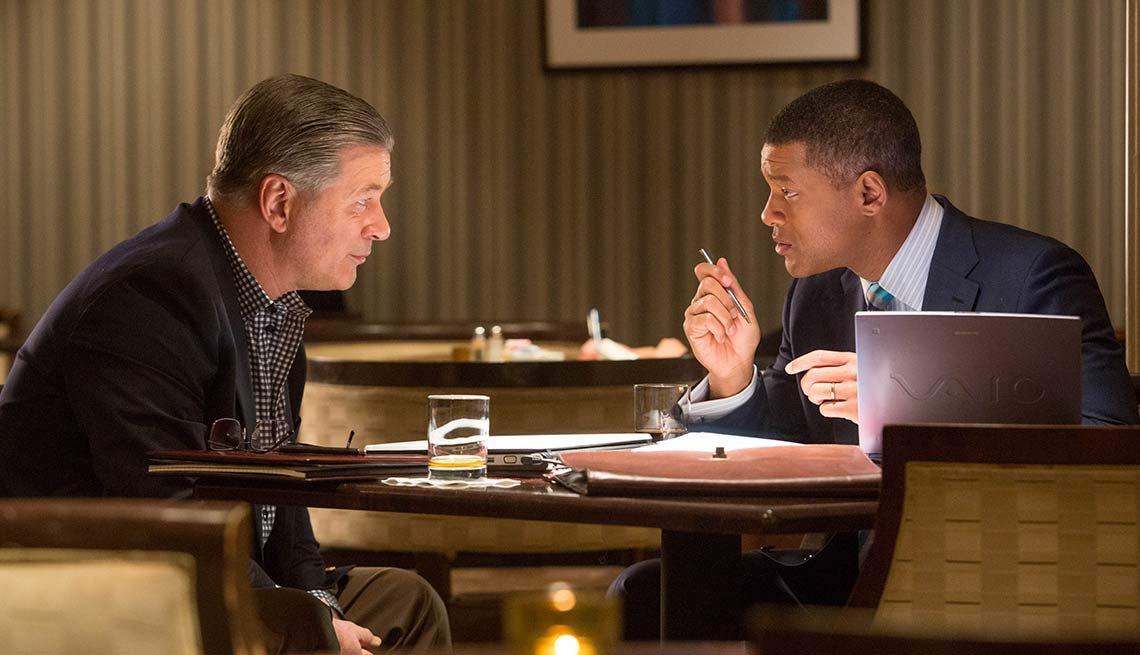 Concussion, Will Smith and Alec Baldwin