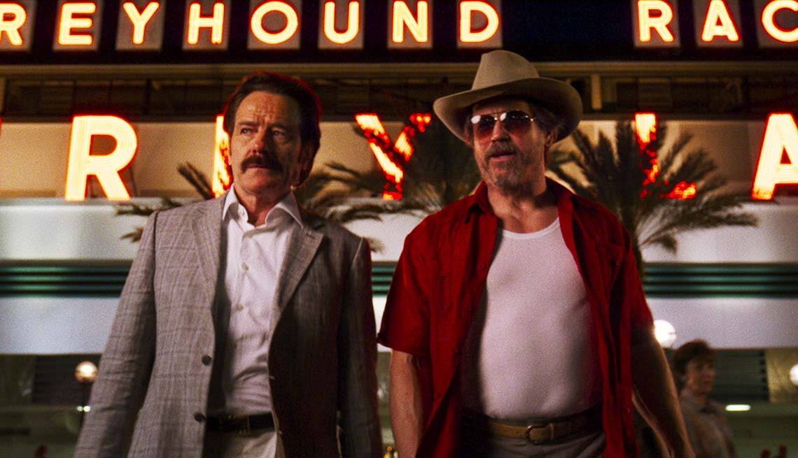 Bryan Cranston, left, and Michael Pare in 'The Infiltrator.'