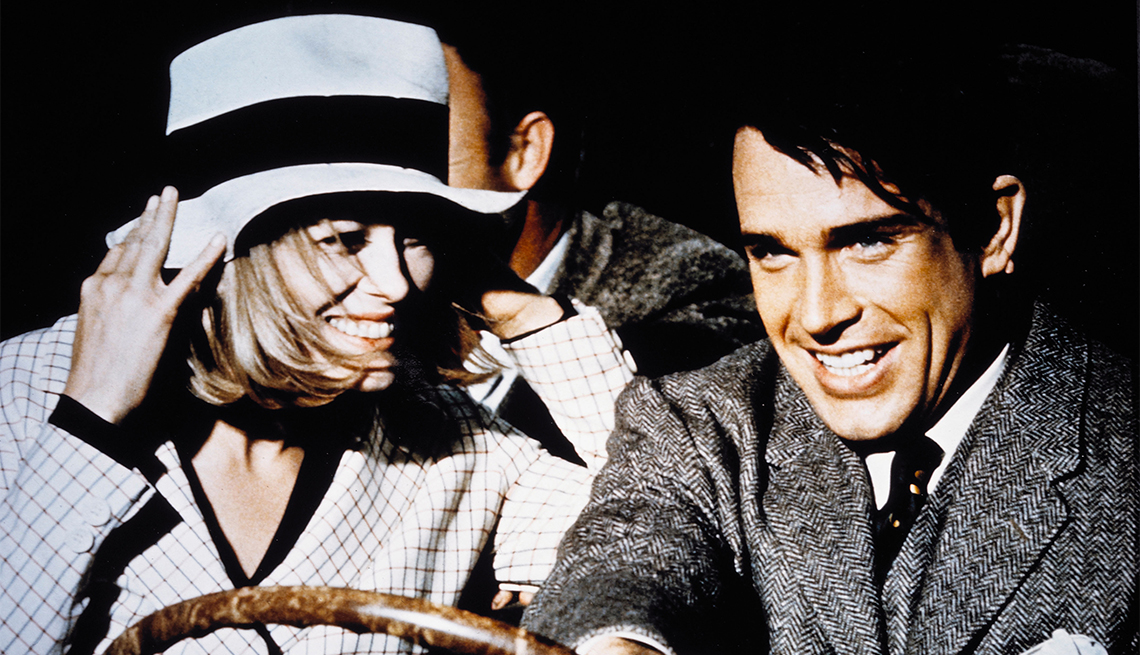 Faye Dunaway and Warren Beatty in 'Bonnie and Clyde'