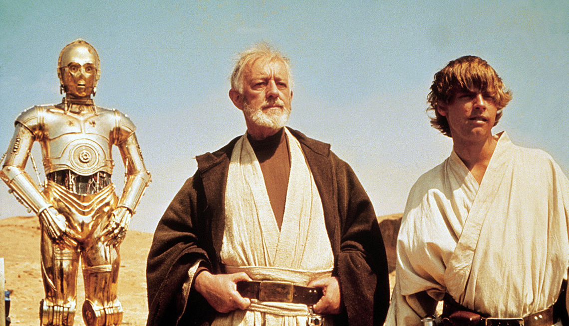 C-3PO, Mark Hamill, Alec Guinness, Actors, Star Wars A New Hope, Movie, Readers Choice: The Essential Boomer Movies