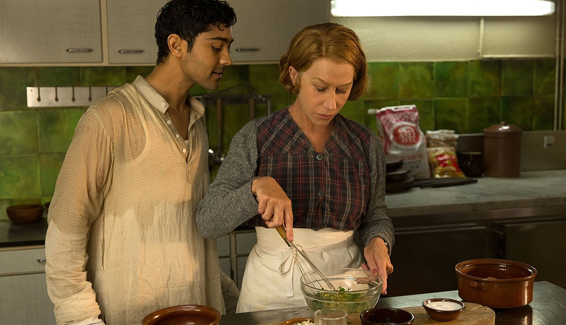 Helen Mirren en una escena de la pelicula Hundred Foot Journey