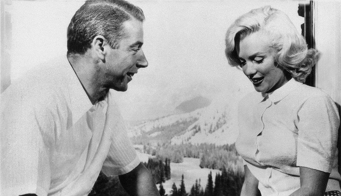 Marilyn Monroe 50 años tras su muerte -  Marilyn y Joe DiMaggio (1954)
