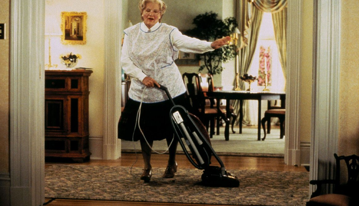 10 personajes inolvidables de Robin Williams - 'Mrs. Doubtfire' (Sra. Doubtfire, papá de por vida), 1993