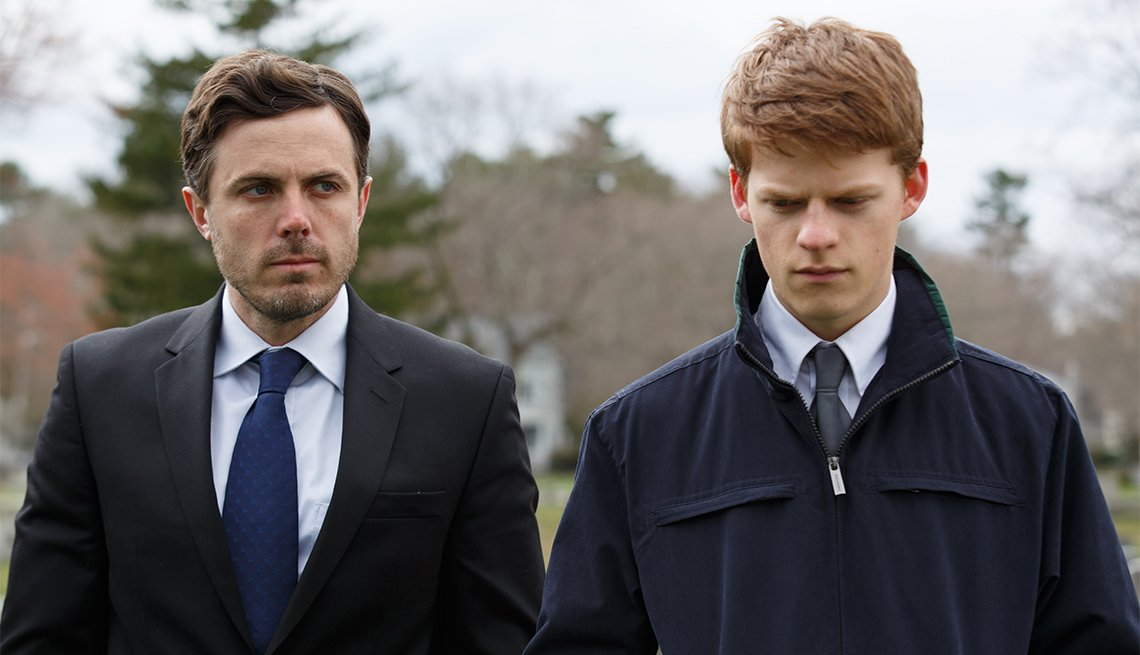 Casey Affleck and Lucas Hedges in 'Manchester by the Sea', movies for grownups 2016