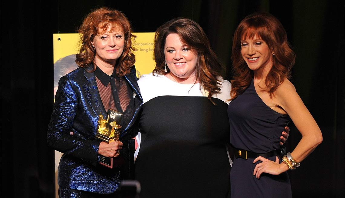 2014 AARP's Movies for GrownUps Gala, Susan Sarandon, Melissa McCarthy and Kathy Griffin