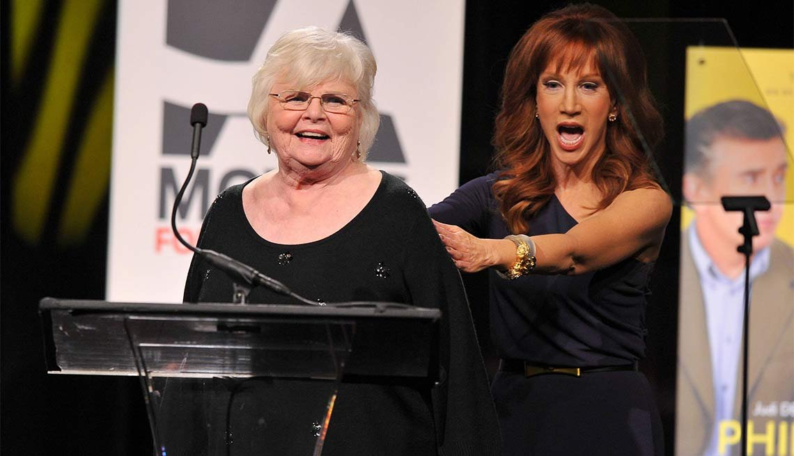 2014 AARP's Movies for GrownUps Gala, June Squibb and Kathy Griffin