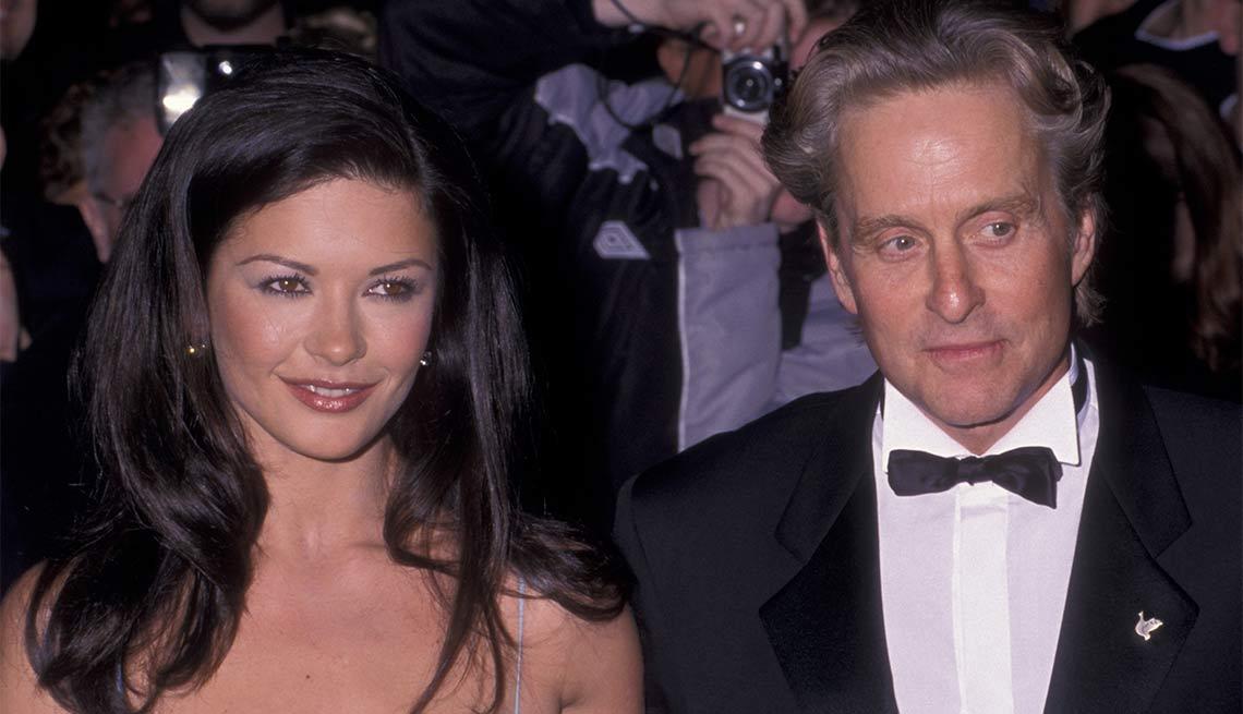 Con su esposa Catherine Zeta-Jones - La carrera de Michael Douglas a través de los años