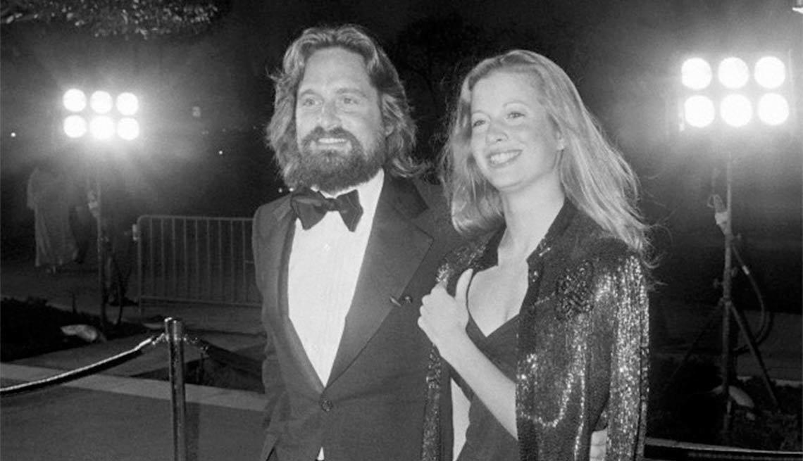 Con su primera esposa Diandra Luker - La carrera de Michael Douglas a través de los años