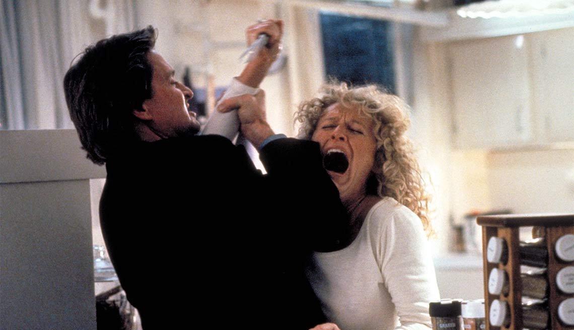 Escena de la película Atracción fatal - La carrera de Michael Douglas a través de los años