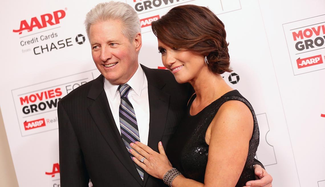 Bruce Boxleitner and Verena King at the aarp movie for grownup awards february 8th 2016