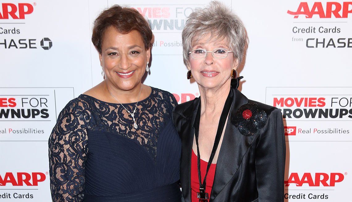 CEO Jo Ann Jenkins and Rita Moreno at the 15th annual movies for grownups awards