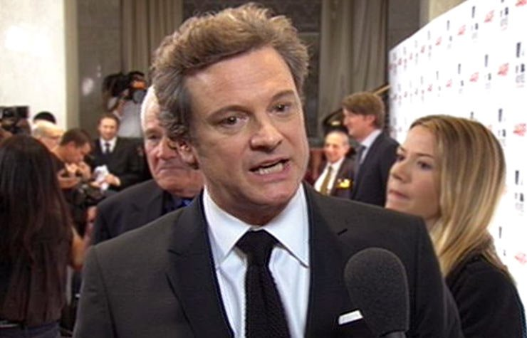 Interview with Colin Firth on the red carpet of Movies for Grownups
