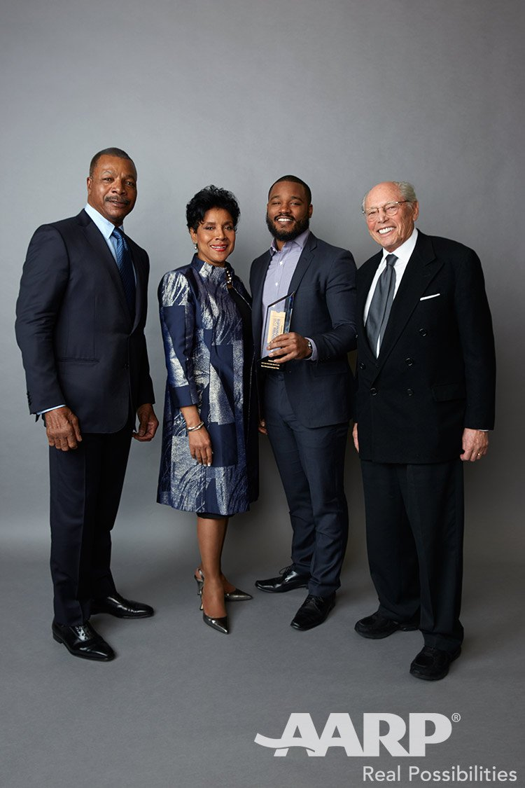 Carl Weathers Phylicia Rashad Ryan Coogler and Irwin Winkler, Movies for Grown Ups 2016