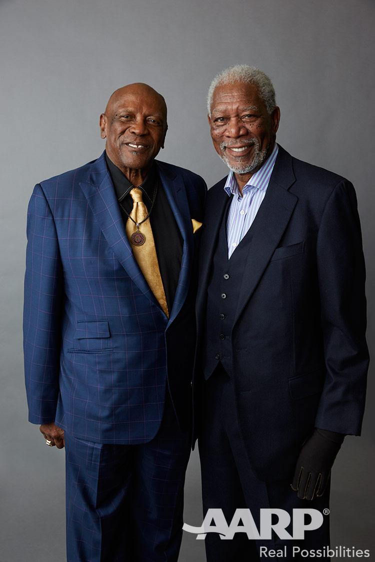 Lou Gossett Jr and Morgan Freeman, Movies for Grown Ups 2016