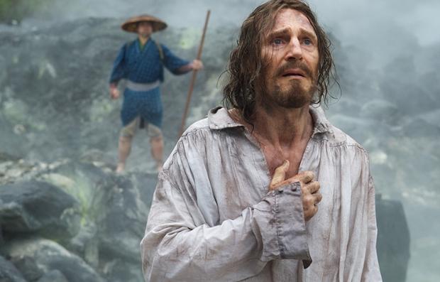 Liam Neeson en una escena de la película 'Silence'