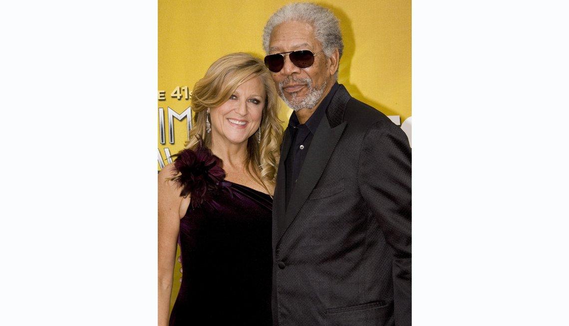 Lori McCreary and Morgan Freeman