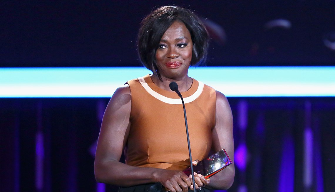 Actor Viola Davis accepts the Best Supporting Actress award for 'Fences'