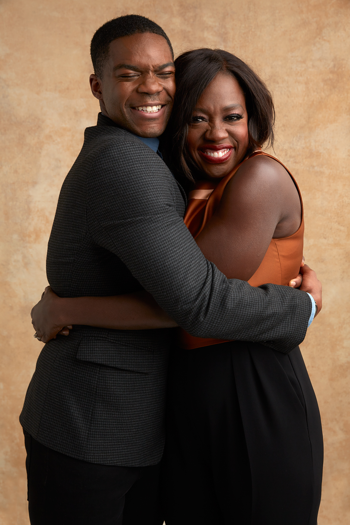 Jovan Adepo and Viola Davis at the 16th Annual AARP The Magazine's Movies for Grownups Awards