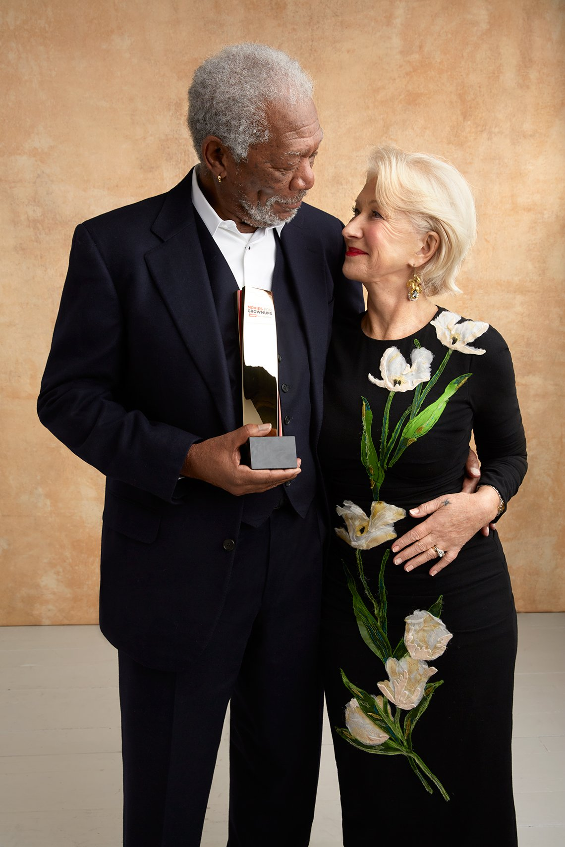 Morgan Freeman and Helen Mirren at the 16th Annual AARP The Magazine's Movies for Grownups Awards