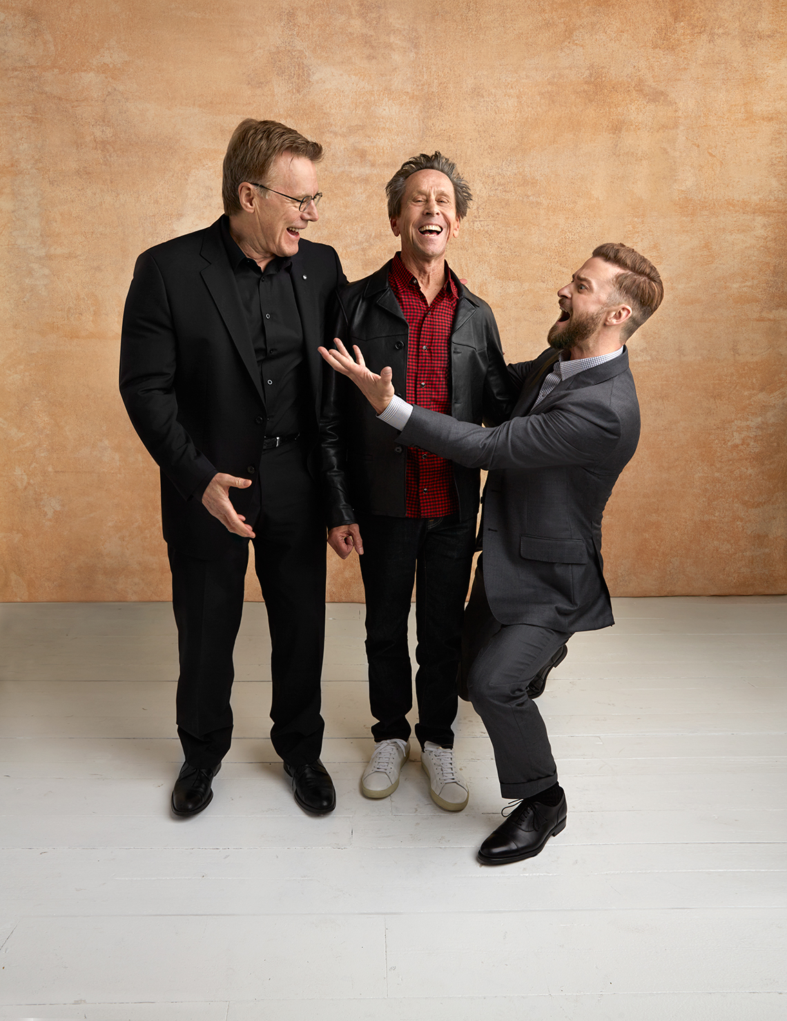 Nigel Sinclair, Brian Grazer and Justin Timberlake at the 16th Annual AARP The Magazine's Movies for Grownups Awards