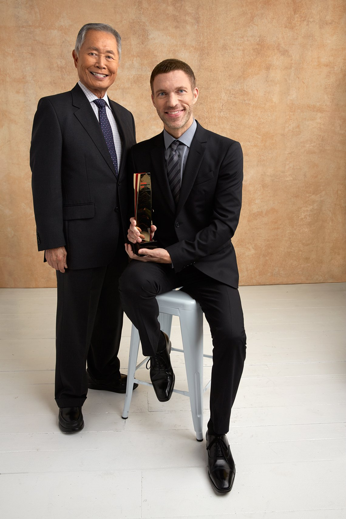 George Takei and Travis Knight at the 16th Annual AARP The Magazine's Movies for Grownups Awards
