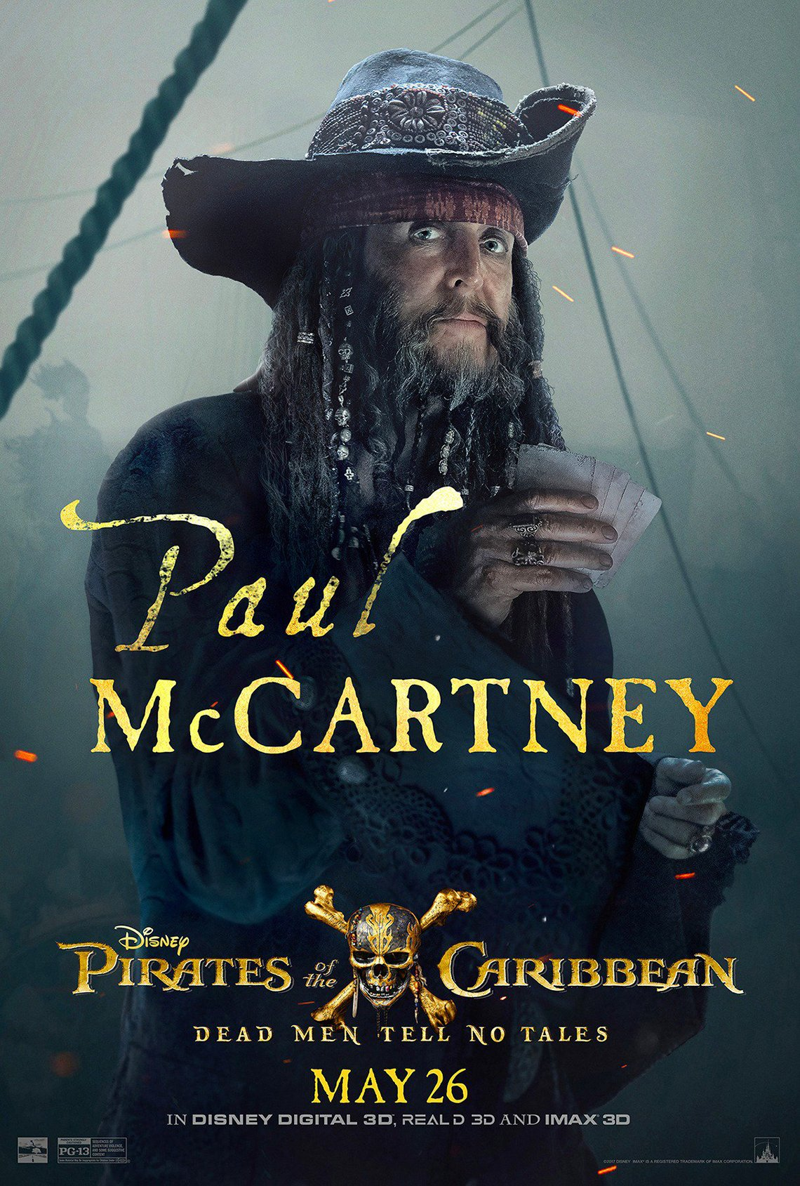 Paul McCartney in Latest 'Pirates of the Caribbean'