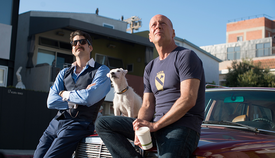Adam Goldberg and Bruce Willis in 'Once Upon a Time in Venice'