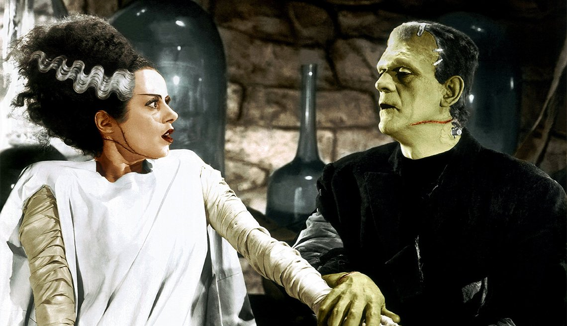 Elsa Lanchester and Boris Karloff in 1935's 'The Bride of Frankenstein'