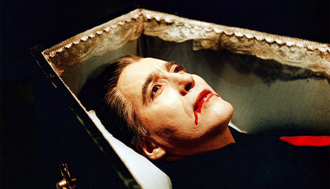 Christopher Lee in 1968's 'Dracula has Risen from the Grave'