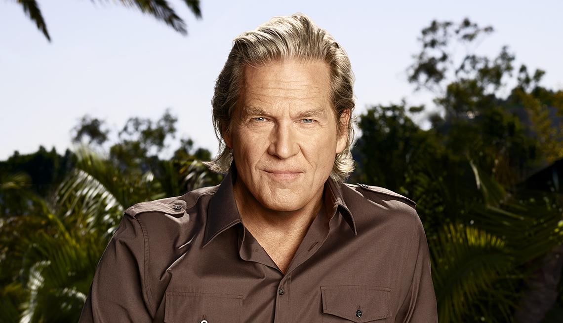 Retrato del actor de Hollywood Jeff Bridges