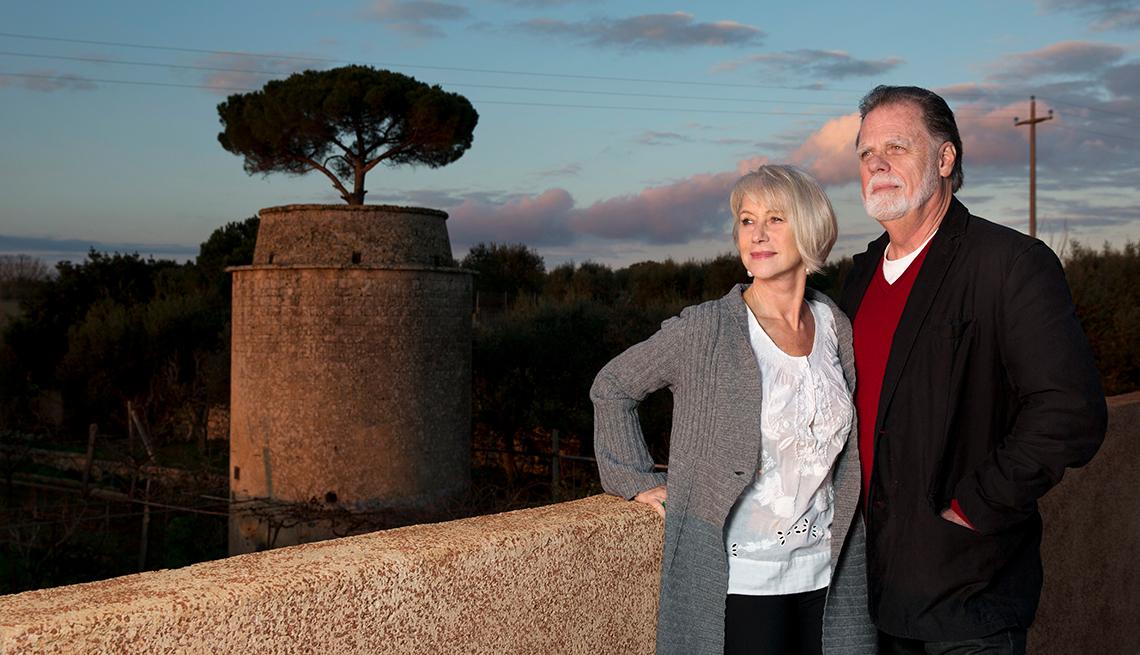 Actriz británica Mirren Helen y su esposo el director Taylor Hackford en 2014