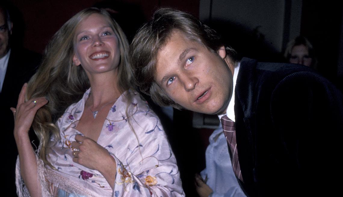 El actor Jeff Bridges con us esposa Suzie Bridges