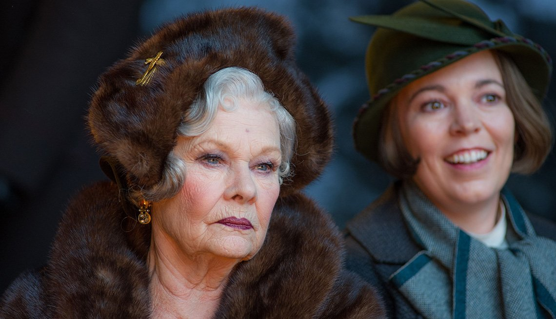 Judi Dench, left, and Olivia Colman star in 'Murder on the Orient Express'
