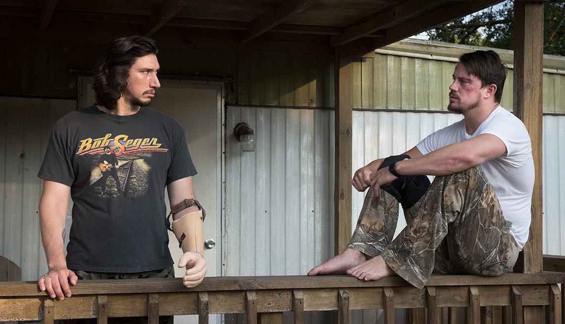 Adam Driver stars as Clyde Logan and Channing Tatum as Jimmy Logan in Steven Soderbergh's 'Logan Lucky'.