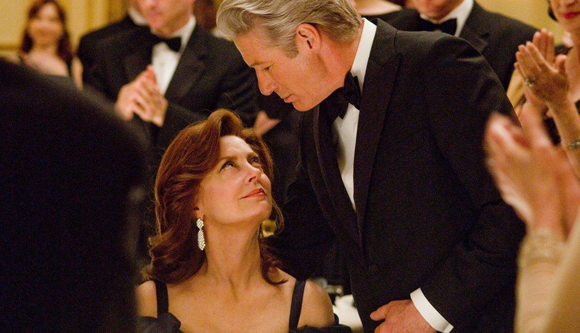 Susan Sarandon y Richard Gere en la película de suspenso financiero del 2012, Arbitrage.