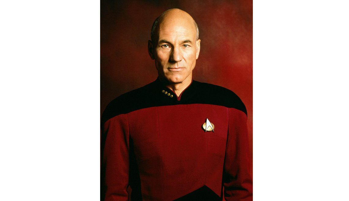 Sir Patrick Stewart en la serie de televisión Star Trek The Next Generation