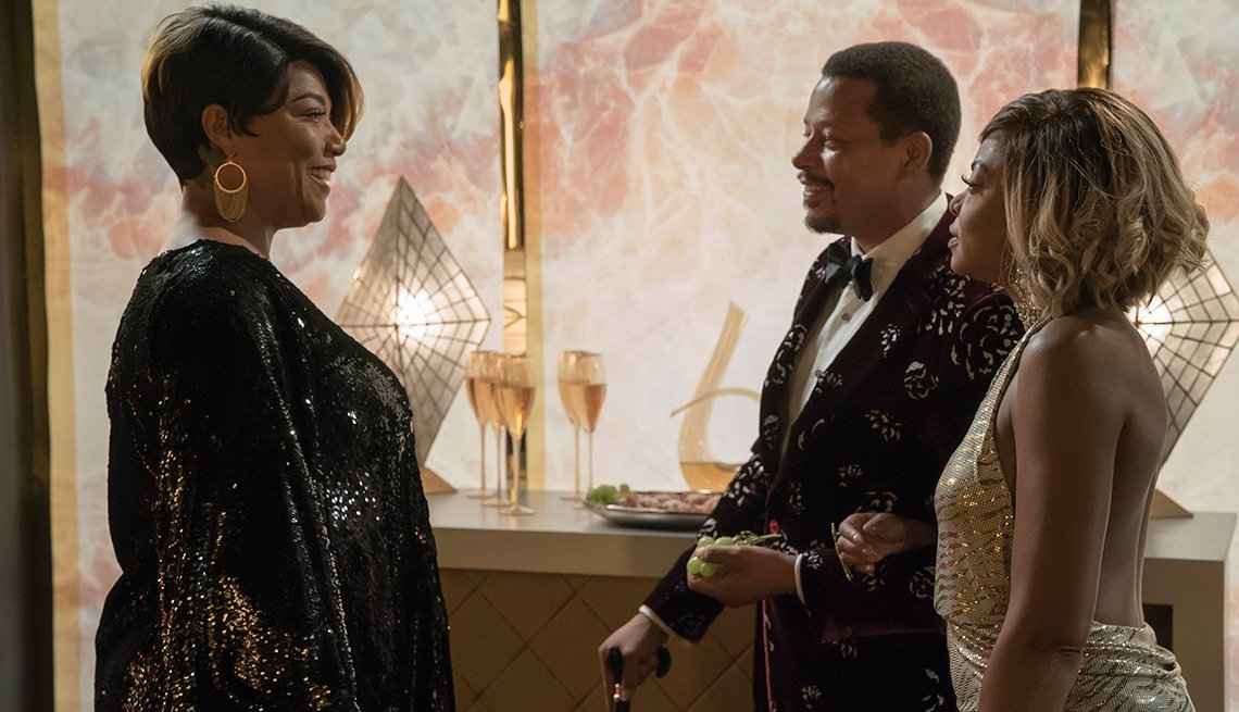 Queen Latifah, Terrence Howard and Taraji P. Henson in 'Empire'