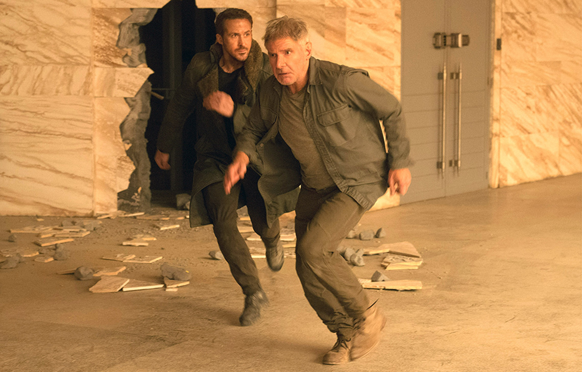 Ryan Gosling and Harrison Ford in 'Bladerunner 2049'