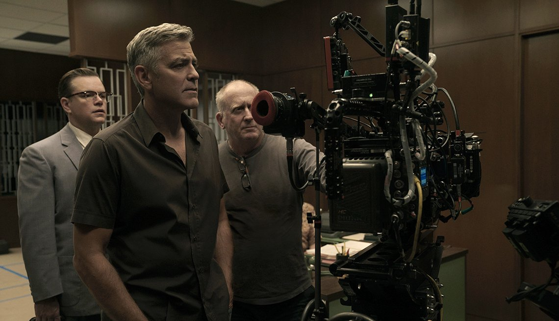George Clooney on the set of 'Suburbicon'